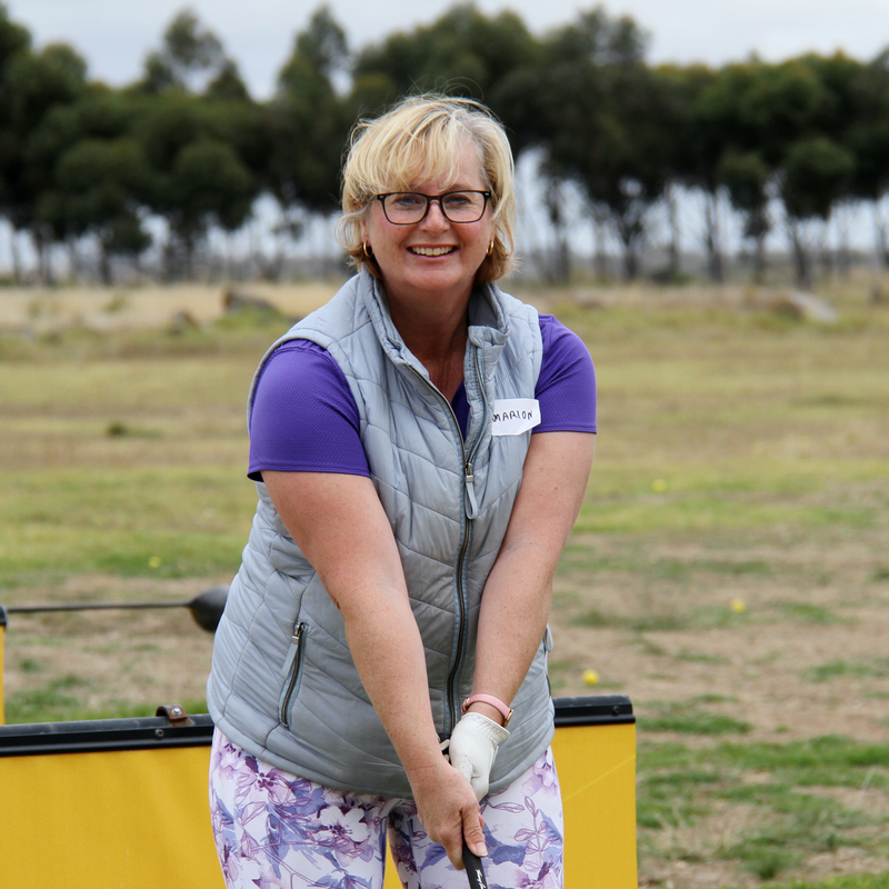 Marion McDonald was thrilled with the free ladies-only golf clinic at Keilor Public Golf Course